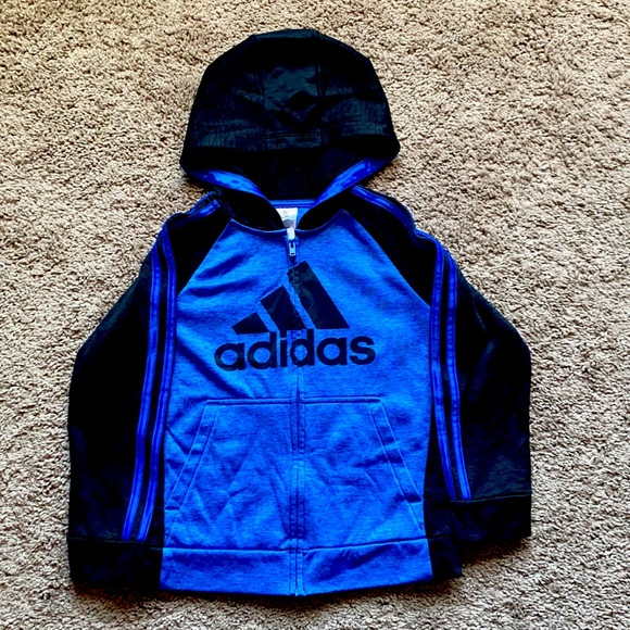 Adidas zip up sweater with hoodie
